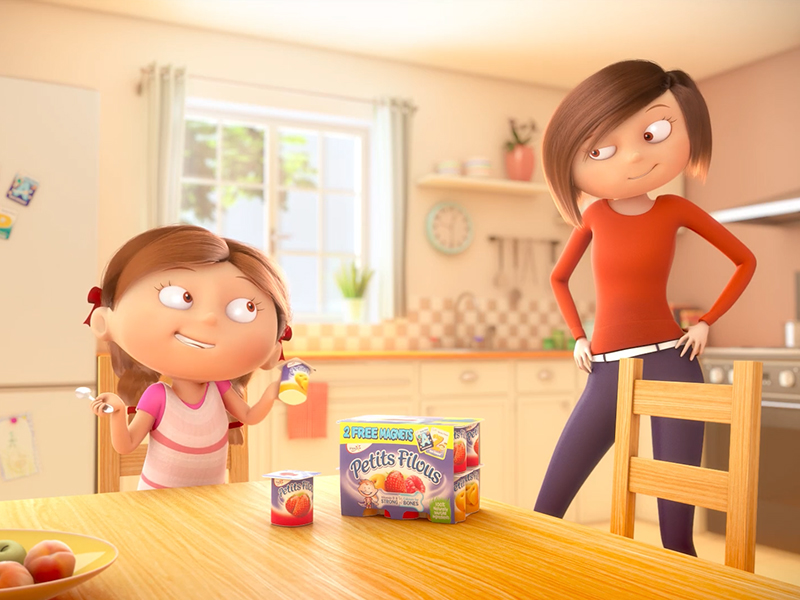 YOPLAIT animation 3D TV